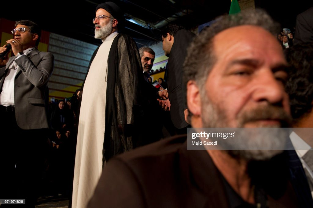 Ebrahim Raisi Rally In Tehran : News Photo