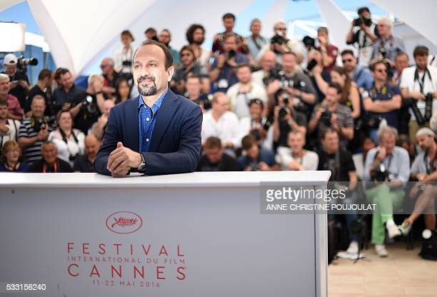 Iranian director Asghar Farhadi poses on May 21 2016 during a photocall for the film The Salesman at the 69th Cannes Film Festival in Cannes southern...