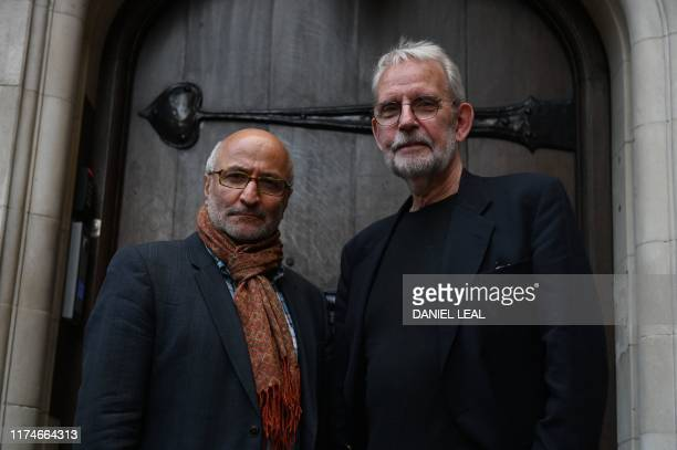 Iranian director Taghi Amirani and US editor Walter Murch of the film 'Coup 53' pose in London on October 4 2019 Filmmaker Taghi Amirani calls them...