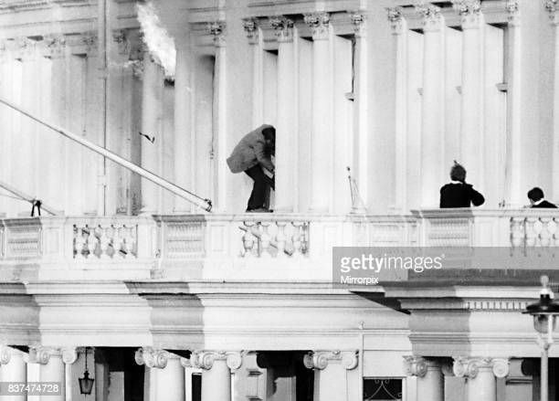 Iranian embassy siege was ended by an SAS raid where Sim Harris escaped out of the balcony as fire broke out in the offices May 1980