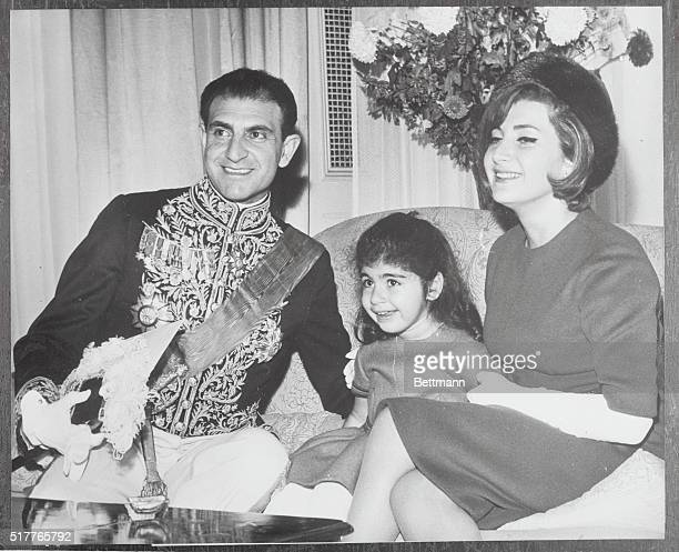 Iranian Envoy and Family London The new ambassador of Iran to the United Kingdom Mr Ardeshir Zahedi is pictured at his residence in London's Princess...