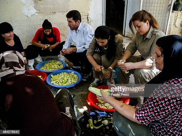 Iranian female fighters preparing food Kurdish Peshmerga fighters in Iraq are on the frontline of the battle against the Islamic State organisation