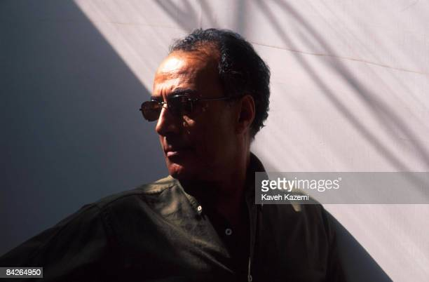 Iranian film director Abbas Kiarostami during a location shoot May 2001
