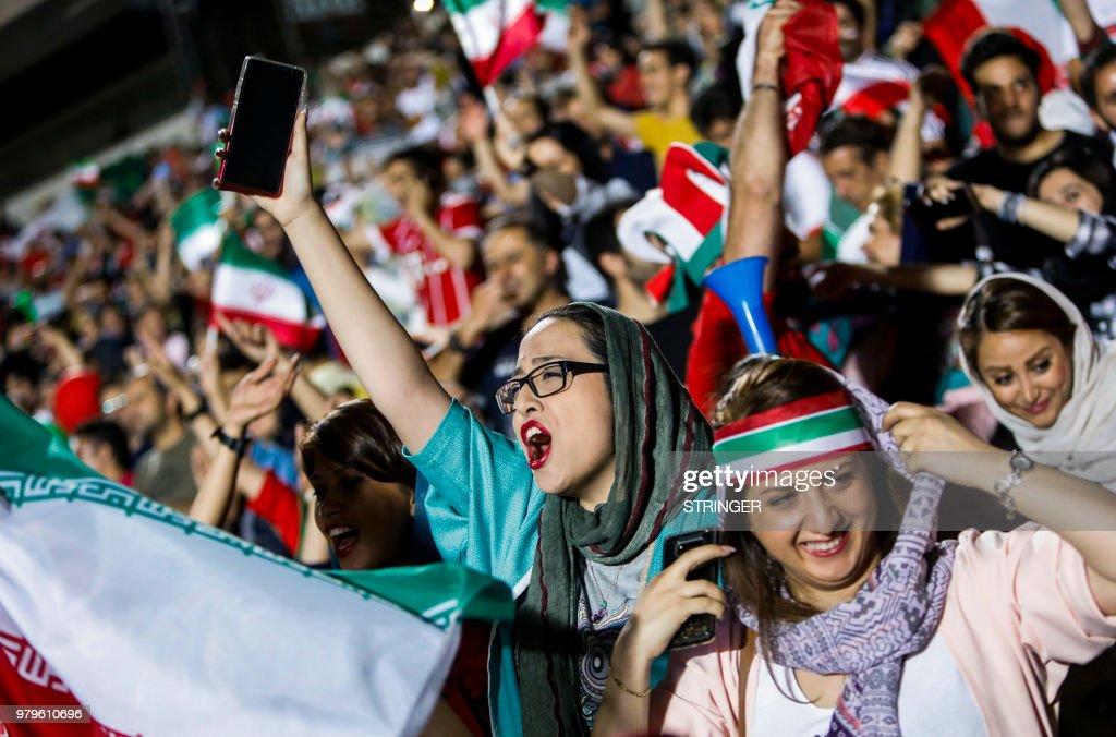 FBL-WC-2018-IRI-ESP-IRAN-WOMEN : News Photo