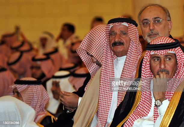 Iranian Foreign Minister AliAkbar Salehi attends the funeral of the late Saudi Crown Prince Sultan bin Abdel Aziz at Imam Turki bin Abdullah mosque...