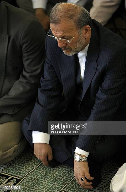 Iranian Foreign Minister Manouchehr Mottaki attends the weekly Friday prayers at Tehran University on July 3 2009 Iran's head of the Guardian Council...