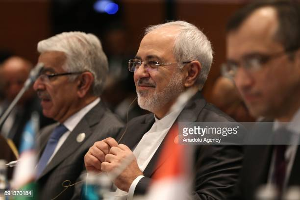 Iranian Foreign Minister Mohammad Javad Zarif attends the OIC foreign ministers meeting within the extraordinary summit of the Organisation of...