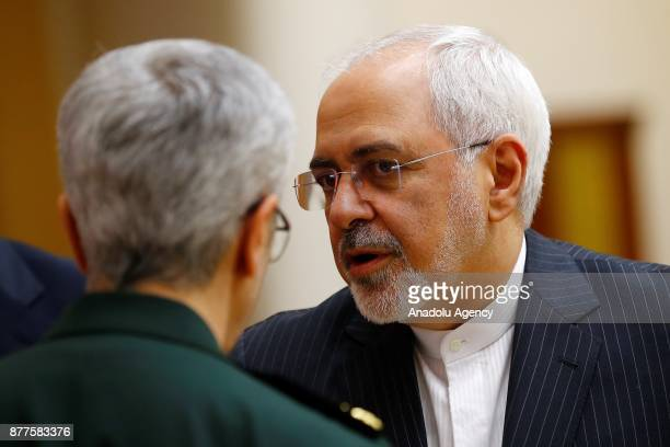 Iranian Foreign Minister Mohammad Javad Zarif is seen ahead of the trilateral summit to discuss progress on Syria between Turkish President Recep...
