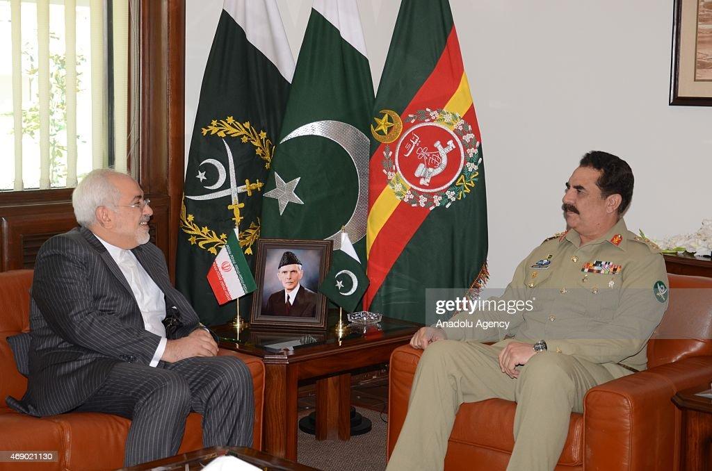 Iranian FM Mohammad Javad Zarif in Pakistan : News Photo