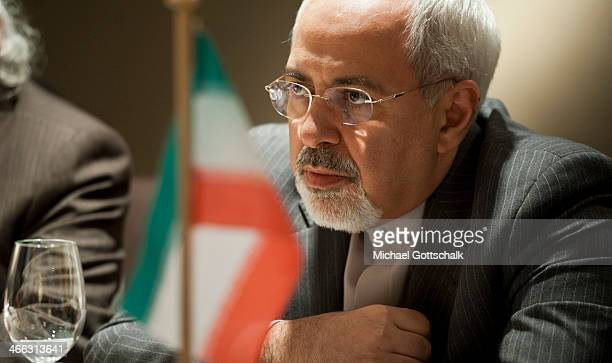 Iranian Foreign Minister Mohammed Javad Zarif looks on during a meeting with German Foreign Minister FrankWalter Steinmeier at the 50th Munich...