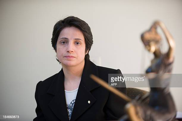 Iranian lawyer Nasrin Sotoudeh is seen in Tehran on November 1 2008 Sotoudeh was sentenced to 11 years in prison for defending opposition members...