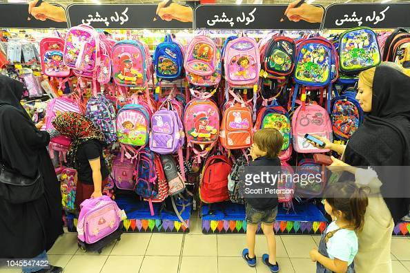 Iranian Mothers And Children Shop For School Backpacks In A News Photo Getty Images