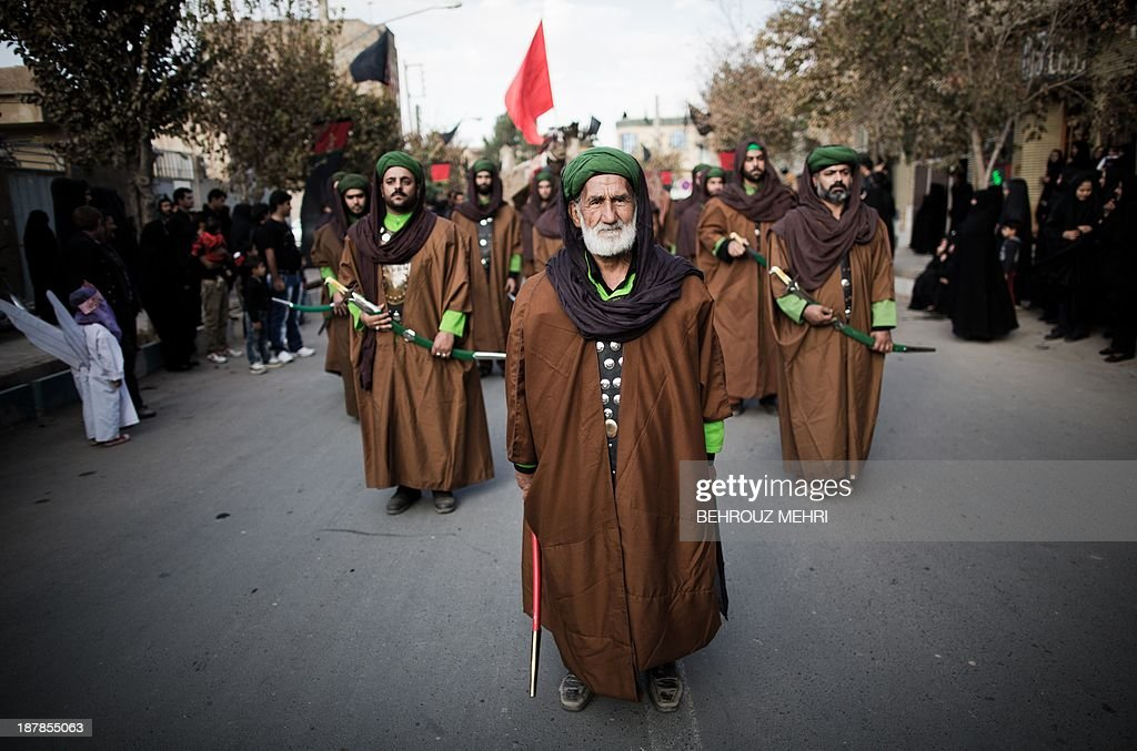 Iranian Muslim Shiite Men, Impersonating The Role Of