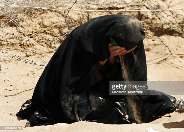 iranian muslim woman is crying - syria stock pictures, royalty-free photos & images