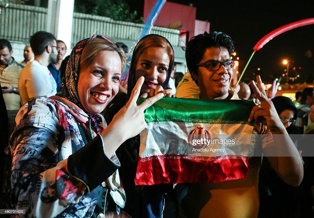 Iran nuclear deal celebrated in Tehran : News Photo