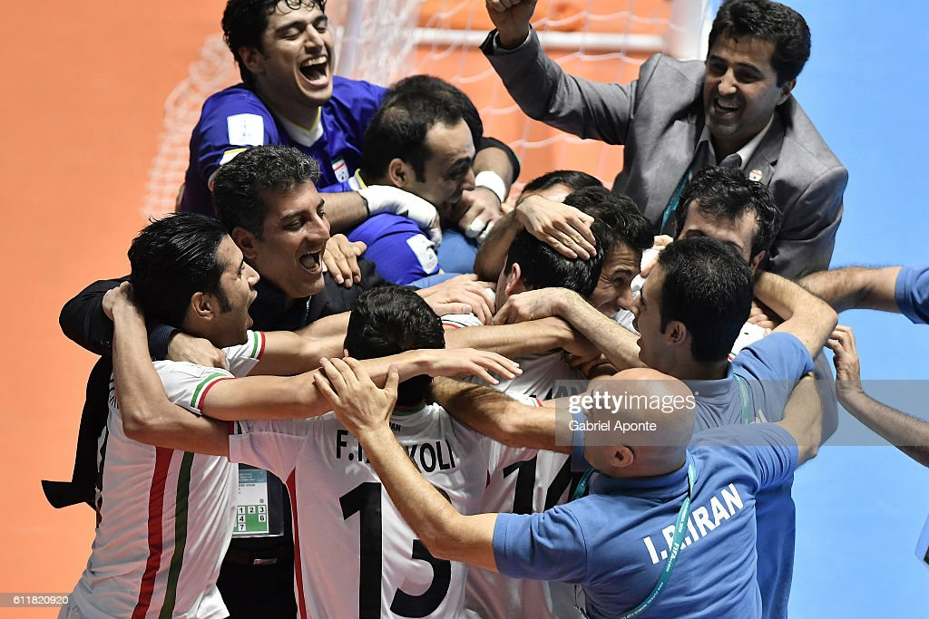 Iran v Portugal: Third Place Play off - FIFA Futsal World Cup Colombia 2016 : News Photo