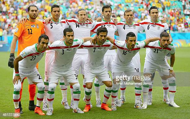 Iranian Players poses for team photo during the 2014 FIFA World Cup Brazil Group F match between Bosnia and Herzegovina and Iran at Arena Fonte Nova...