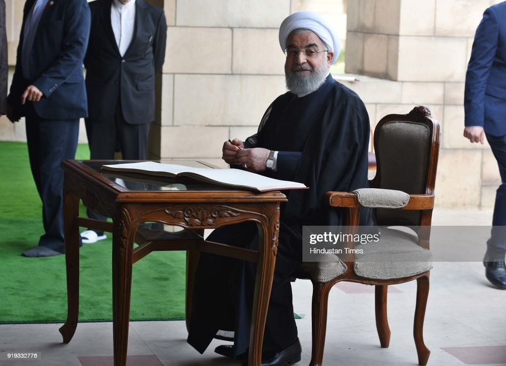 Iran President Dr Hassan Rouhani Visits Rajghat