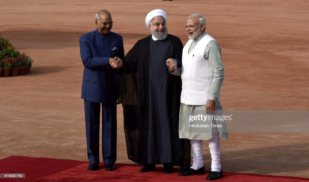 Ceremonial Reception Of Iranian President Dr. Hassan Rouhani At Rashtrapati Bhavan