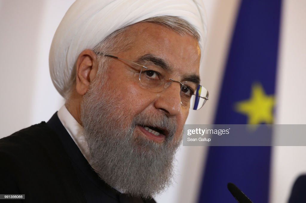 Iranian President Rouhani Visits Austria