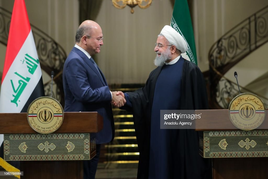 Iraq's President Barham Salih in Iran : News Photo