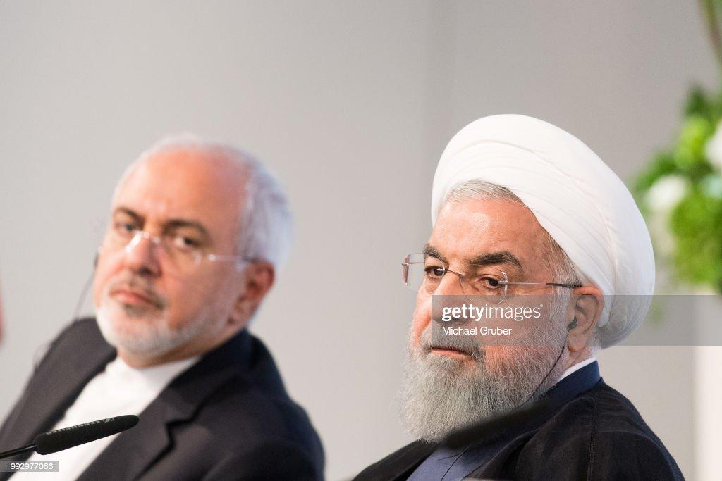 Iranian President Rouhani Visits Austria : News Photo