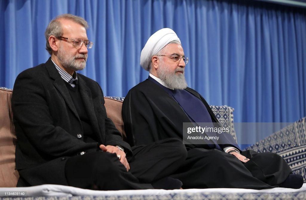 Ayatollah Ali Khamenei receives Hassan Rouhani : News Photo