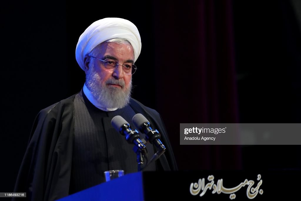 Iranian President Hassan Rouhani : Nieuwsfoto's