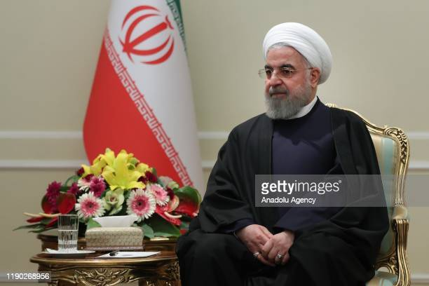 Iranian President Hassan Rouhani meets with Minister of External Affairs of India Subrahmanyam Jaishankar in Tehran Iran on December 23 2019