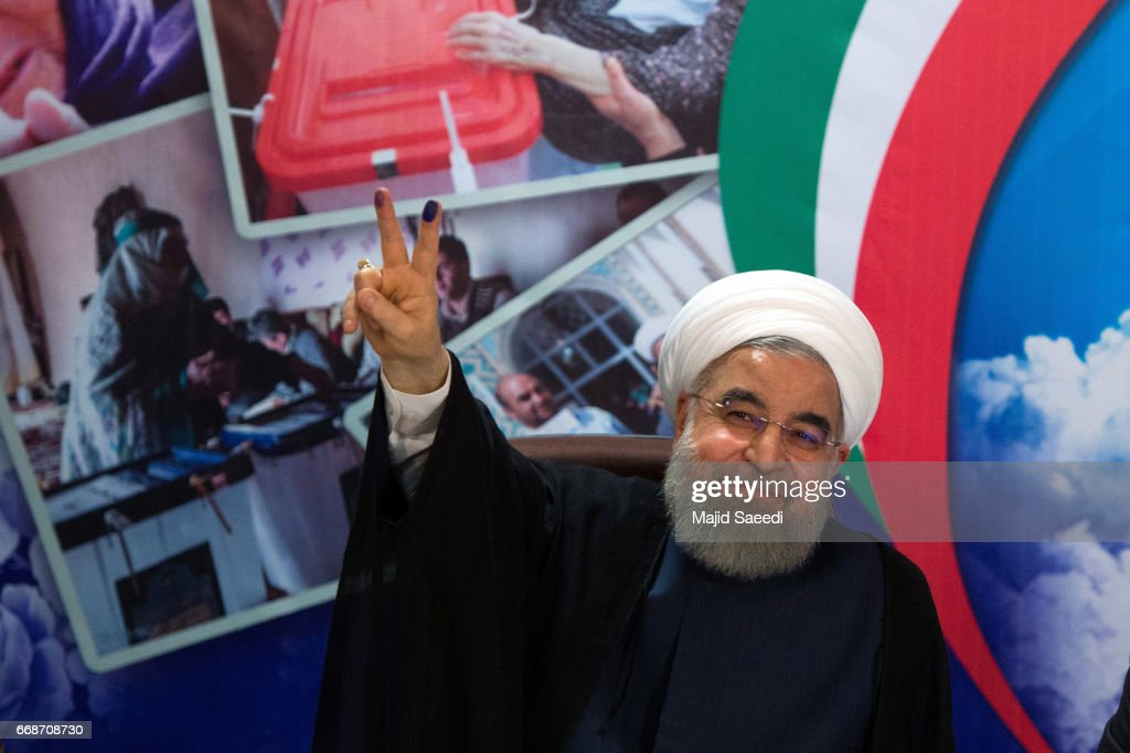President Rohani Of Iran Launches His Bid For This Year's Presidential Elections