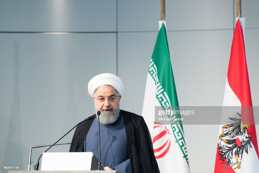 Iranian President Rouhani Visits Austria : News Photo