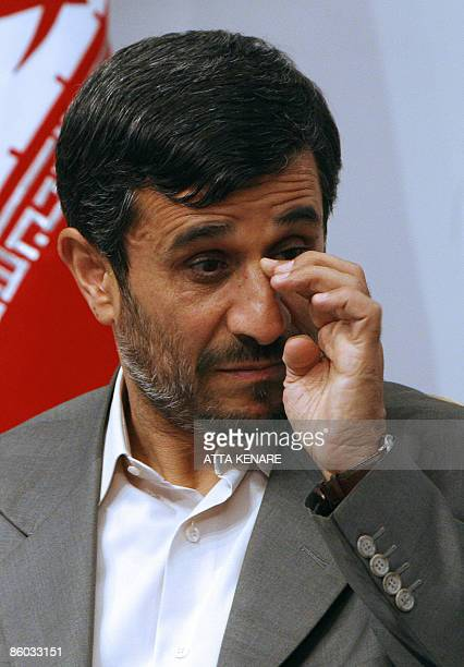 Iranian President Mahmoud Ahmadinejad is seen during a meeting with former Turkish prime minister and chief of the Islamic Refah party Necmettin...