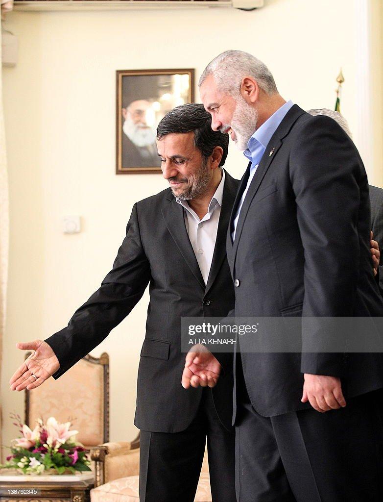 Iranian President Mahmoud Ahmadinejad (L : News Photo