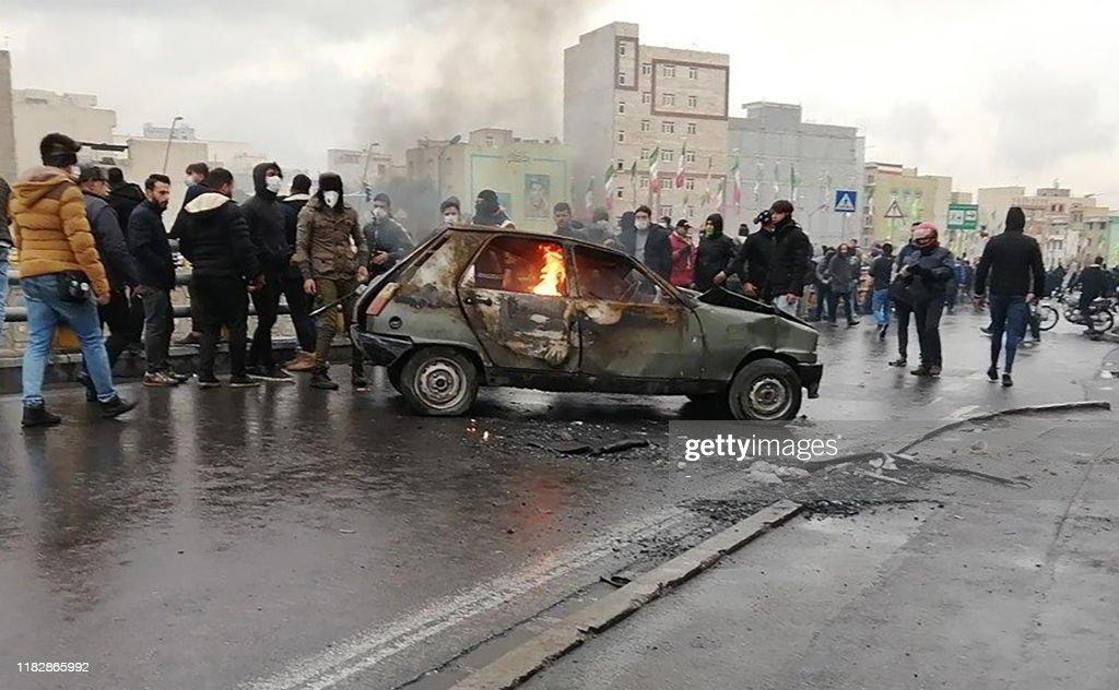 IRAN-POLITICS-PETROL-DEMO : News Photo