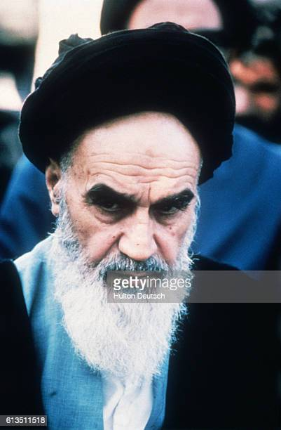 Iranian religious and political leader Ayatollah Khomeini Leader of Iran's Islamic revolution which started after the collapse of Shah's government...