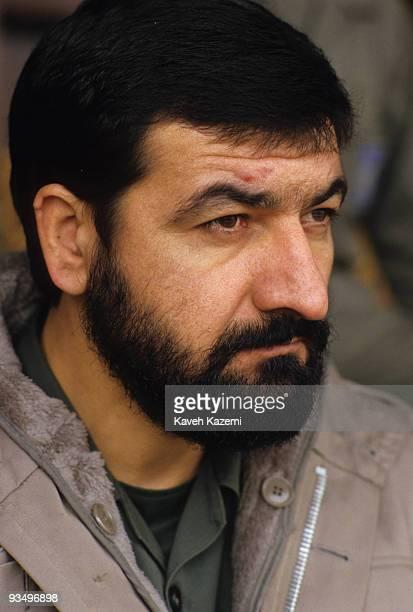 Iranian Revolutionary Guard commander Mohsen Rezaie at the Azadi stadium in Tehran, 18th April 1987.