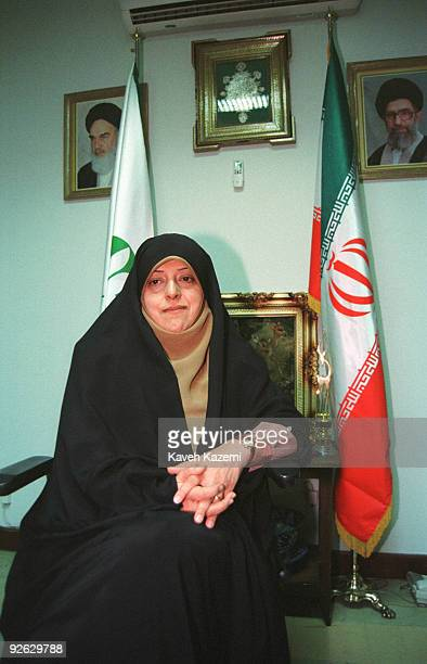 Iranian scientist and politician Masoumeh Ebtekar Mohammad Khatami's Vice President in Environment Affairs in her Tehran office 24th December 2000...
