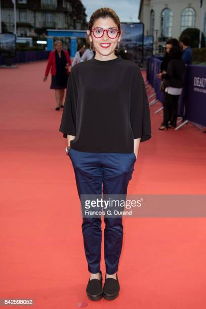 Iranian screenwriter and director Anahita Ghazvinizadeh poses on the red carpet before the screening of the movie 'The Promise' during the 43rd...