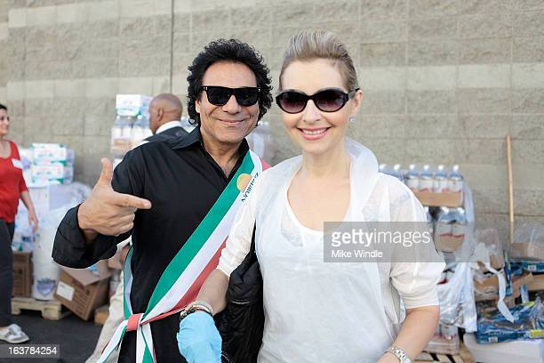 Iranian singer Andy and singer Shani Rigsbee attend the second annual Nowruz at The Midnight Mission event on March 15 2013 in Los Angeles California