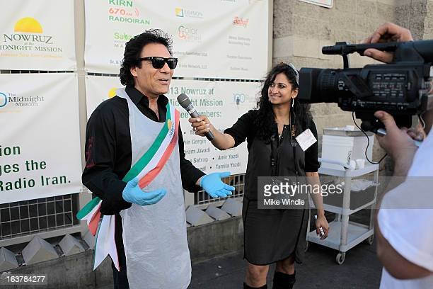 Iranian singer Andy attends the second annual Nowruz at The Midnight Mission event on March 15 2013 in Los Angeles California