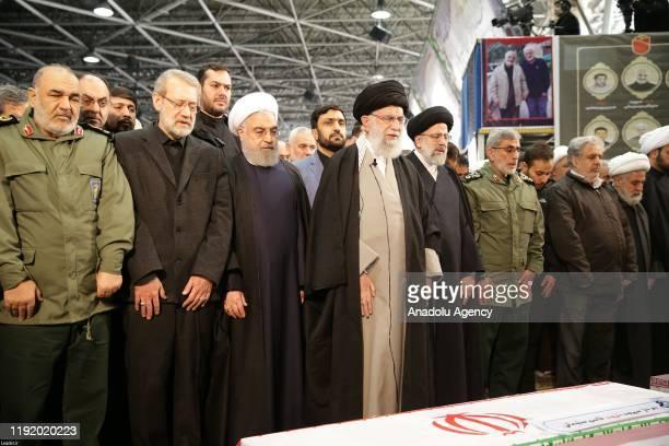 Iranian Supreme Leader Ayatollah Ali Khamenei , Iranian President Hassan Rouhani , Soleimanis long-time lieutenant and the new leader of Quds Force...