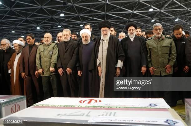 Iranian Supreme Leader Ayatollah Ali Khamenei Iranian President Hassan Rouhani Soleimanis longtime lieutenant and the new leader of Quds Force Gen...