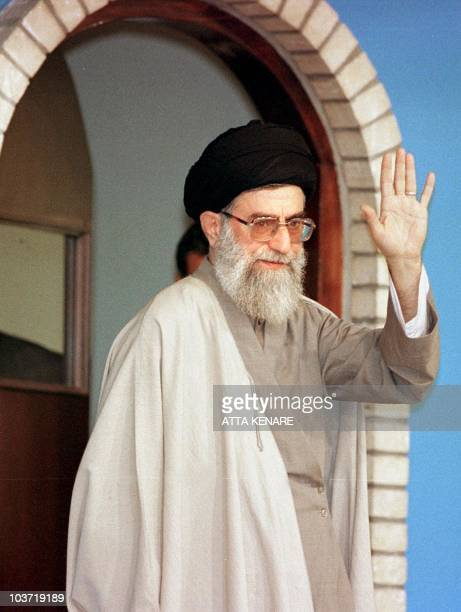 Iranian supreme leader Ayatollah Ali Khamenei salutes Iranians 21 October in Tehran Khamenei elected as Iran's supreme leader in 1989 will come under...