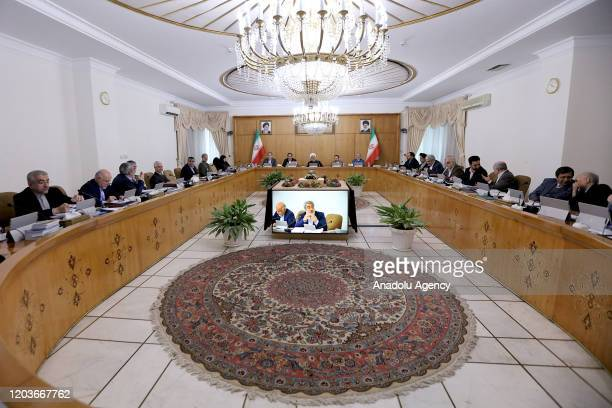 Iranian Vice President for Women and Family Affairs Masoumeh Ebtekar makes a speech during the Council of Ministers meeting in Tehran Iran on...