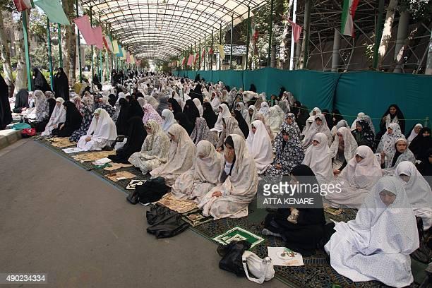 Iranian women attend the weekly Friday prayers at Tehran University in the Iranian capital on August 21 2009 Powerful Iranian cleric Ahmad Jannati...