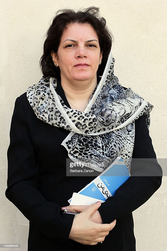 Iranian writer Fariba Vafi poses for a portrait session during 'incroci di civilta', Venice literary Festival on May 19, 2010 in Venice, Italy.
