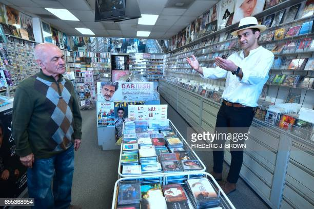 IranianAmerican Arash Saedinia an English literature professor at Los Angeles City College meets with Abbas Chamanara on March 15 at the Music Box...