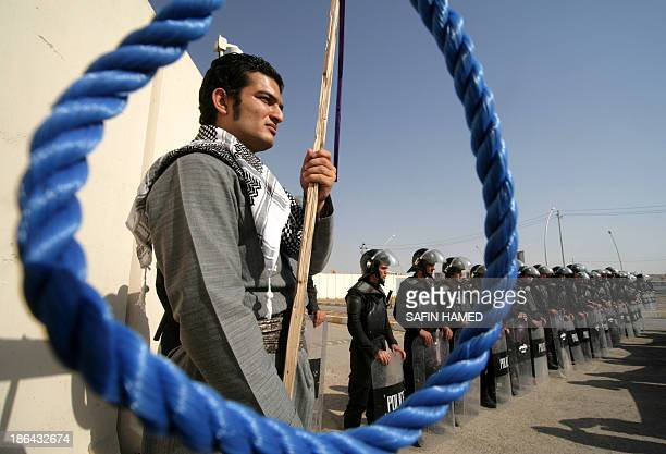 IranianKurds protest against the execution of Kurdish rebels in Iran in the northern Iraqi Kurdish city of Arbil on October 31 2013 Iran executed 16...