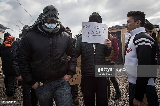Iranians decided to sew their lips to protest about the eviction of the south part of the camp by the municipality There are now 6000 refugees living...