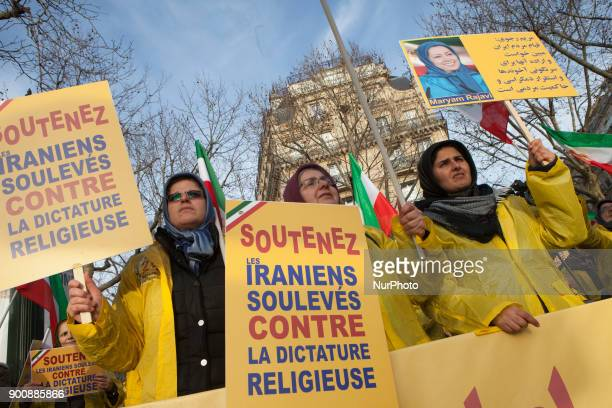 Iranian's Demonstration Paris France Iranian in Paris demonstrate for supporting protests in Iran near by Iranian Embassy in Paris on Wednesday...